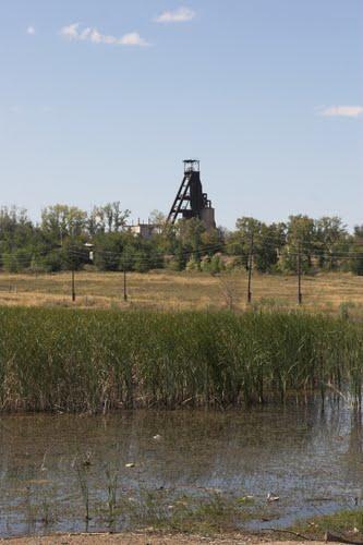 Вид на копер рудника (2007 год)
