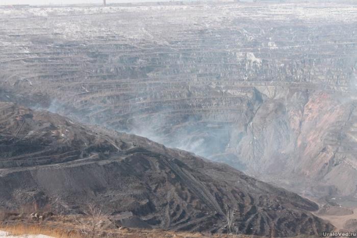 Горение угля в Коркинском карьере