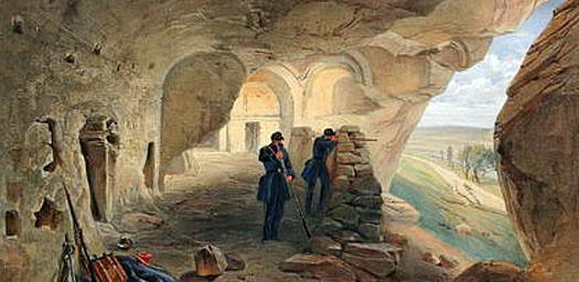 Инкерманские штольни во время войны