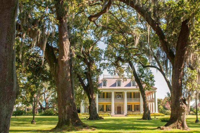 Население и история штата Луизиана - фото особняка на плантации