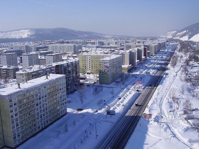 Междуреченск. Белый снег
