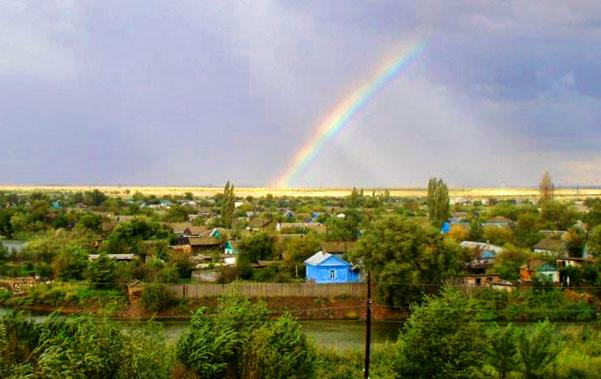 Вид города Котельниково со стороны