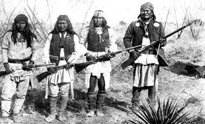 Апачи и их вождь Джеронимо