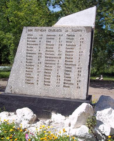Памятник-стела памяти учащихся и работников, которые погибли во времена ВОВ