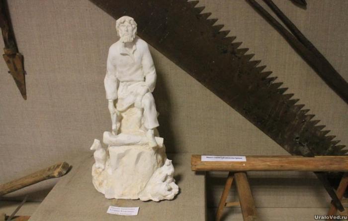 Макет памятника Егорше Кожевину в музее