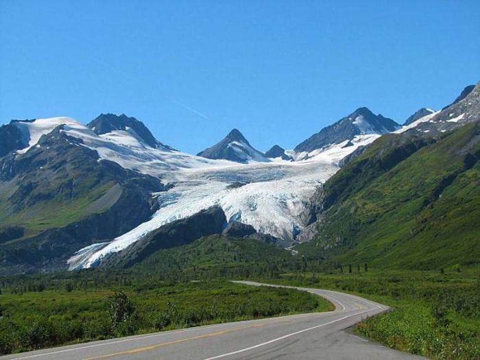 Ледник Уортингтон и каньон Кистоун Аляска фото