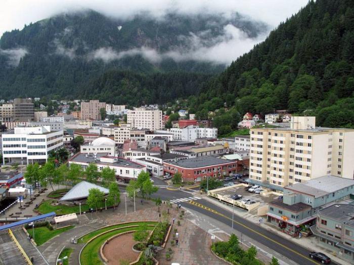 Город Джуно Аляска фото