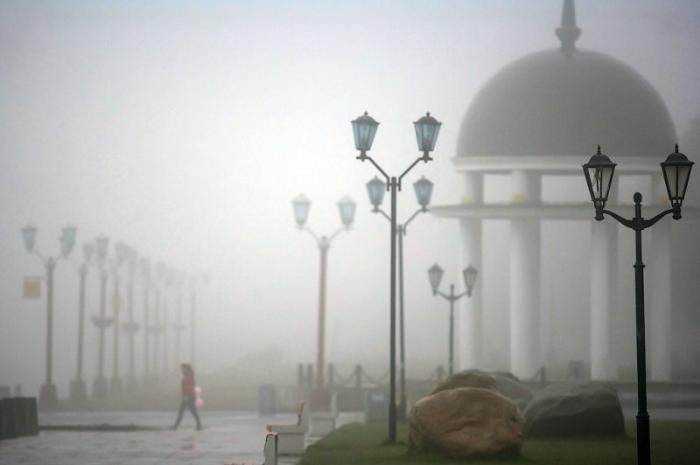 туман и ротонда