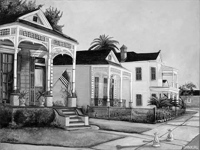 Старинные дома в Луизиане