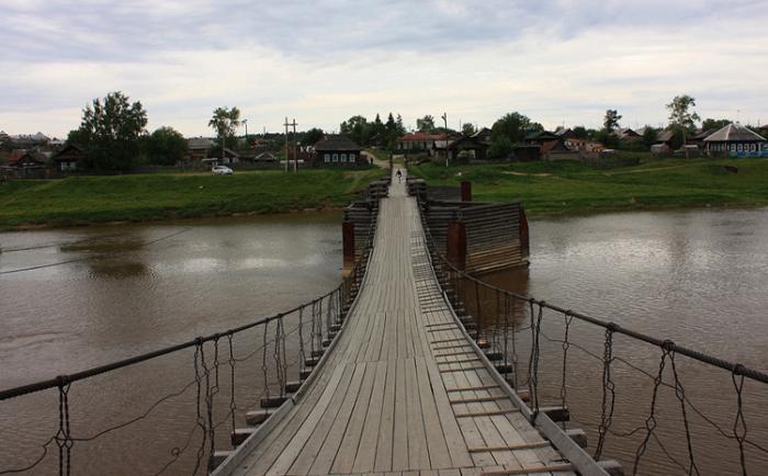 Подвесной пешеходный мост