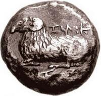 монета, Саламин, 6 век до н.э., Кипр