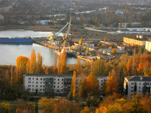 порт в городе Инкерман