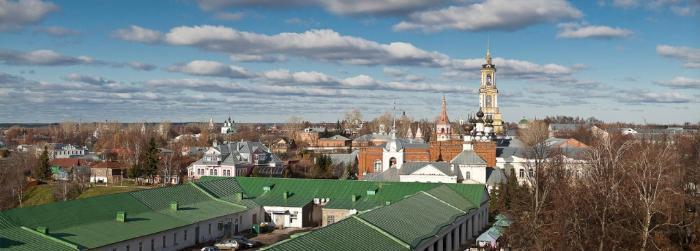 Город Суздаль - торговые ряды