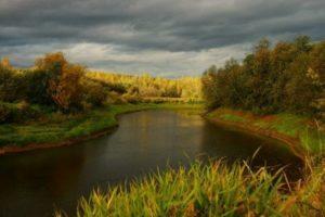 река Кува в Кудымкаре