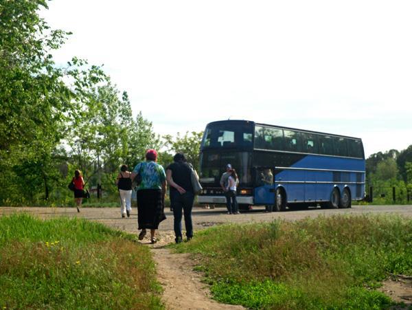 наша группа и автобус
