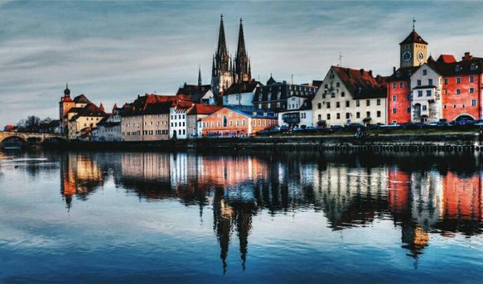 Панорама Старого города Регенсбурга