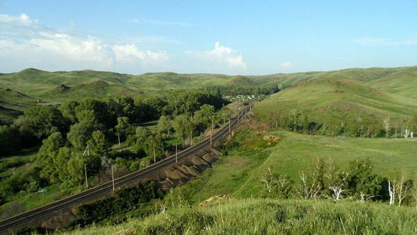 Железная дорога около Медногорска