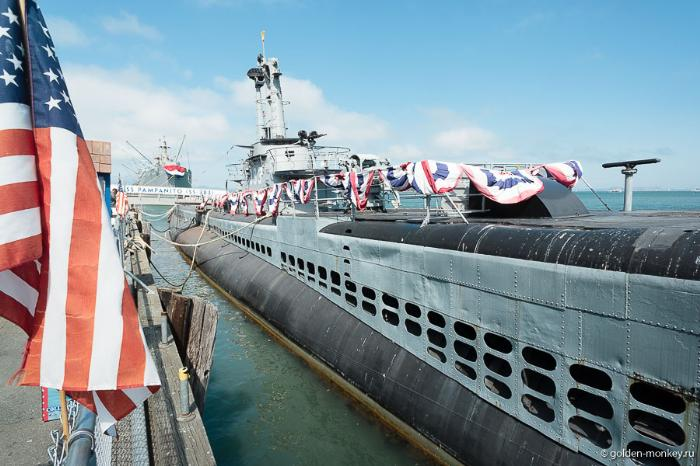 Подводная лодка «Пампанито» на набережной Сан-Франциско, 45 пирс