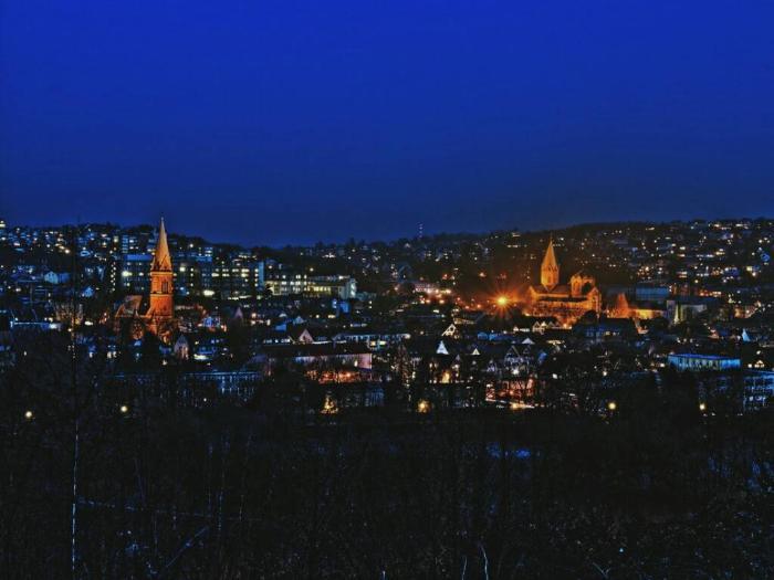 Панорама ночного Эссена