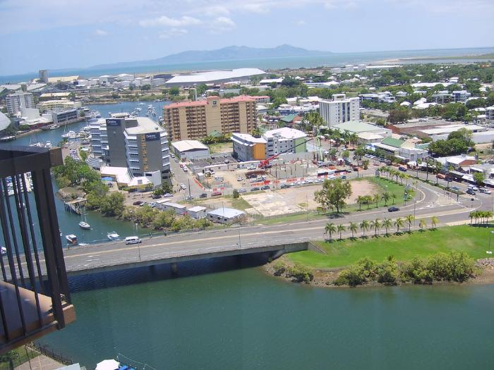 panoramic view of townsville australia