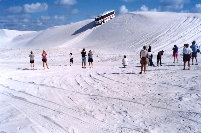 western australia white sandy dunes