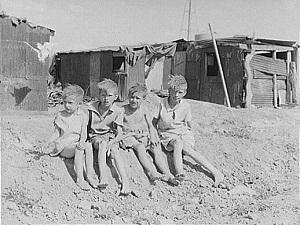 Дети рабочих в Аризоне во время Великой Депрессии