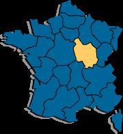 Карта Франции и Бургундии