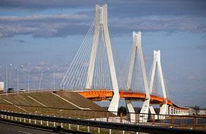 Вантовый мост через Оку. Город Муром.