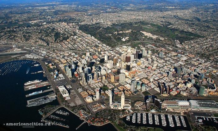 город Сан-Диего с птичьего полета