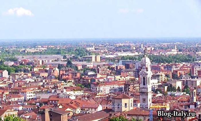 Бергамо - вид на город сверху