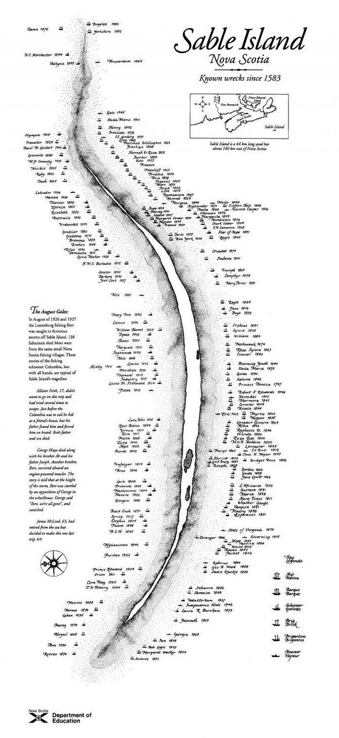 Сейбл - настоящий «Остров невезения»