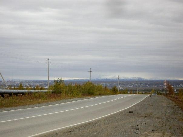 Дорога из Салехарда в Лабытнанги