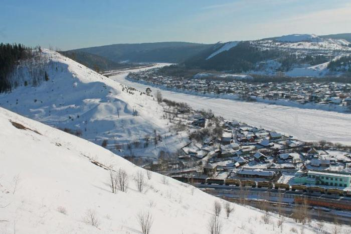 Река Чусовая и город Чусовой с горы