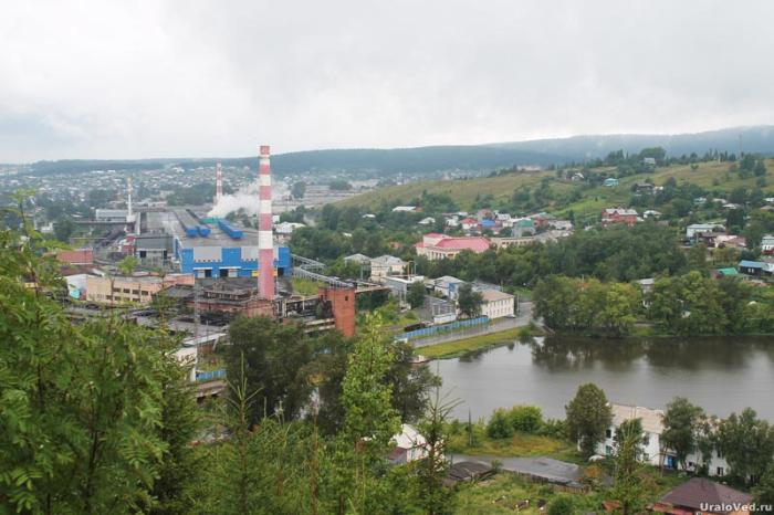 Вид на Нижнесергинский завод в наши дни