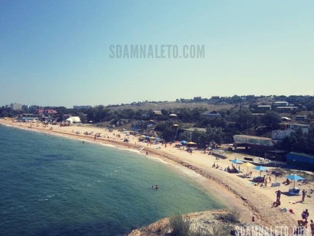 Щелкино пляж