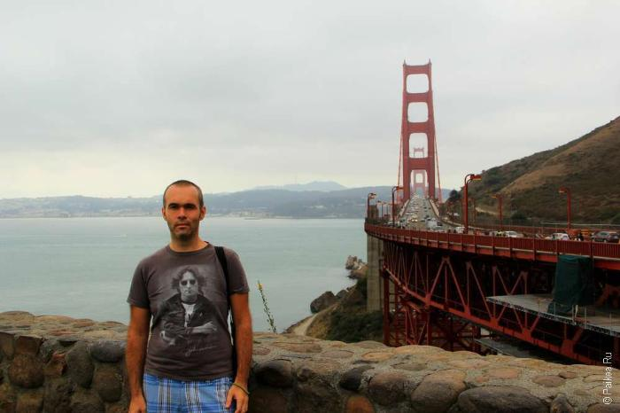 Мое фото на мосту Золотые ворота