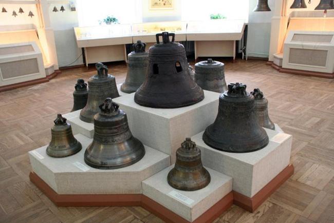 Экспонаты музея колоколов