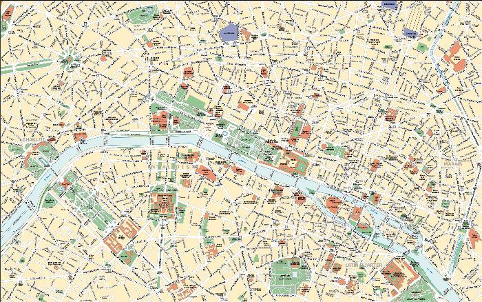 z Карта Парижа