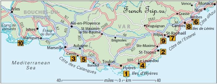 Лучшие пляжи Лазурного берега Франции Cannes (Канны), Лазурный берег Франции