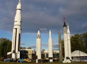 Музей космонавтики с ракетами в Алабаме