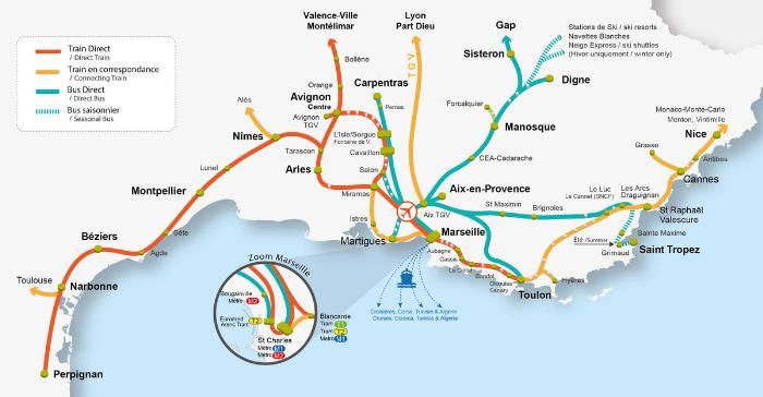 Как добраться в Сен-Рафаэль - автобусы и поезда в Сен-Рафаэль, карта маршрутов