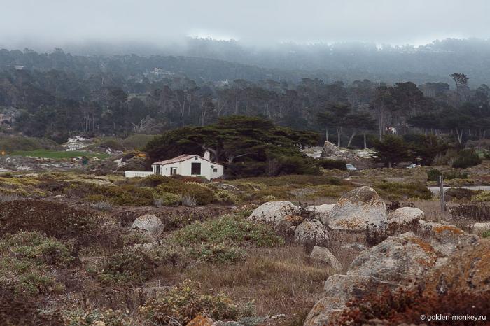Панорамный пейзаж с 17-мильной дороги, Калифорния, США