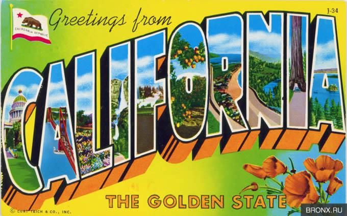 California, greetings, USA