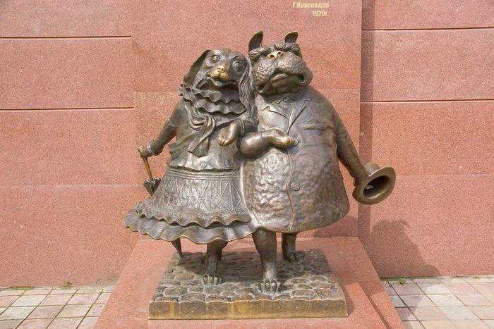 Памятник «Собачкина столица» в Краснодаре