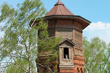 Водонапорная башня для заправки паровозов в Кашине