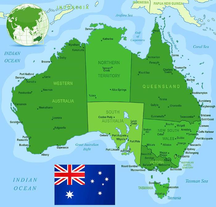 Квинсленд на карте